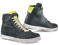 Scarpe Shoes Stivali Moto Tcx Street Ace Pelle Nero chiaro Giallo Fluo Tg 45