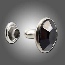 Springfield Leather Co. Black Acrylic Crystal Rhinestone 5mm Rivets 50 Pack