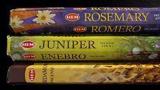 Rosemary Juniper Cardamom 60 Hem Incense Sticks 3 Scent Sampler Gift Set