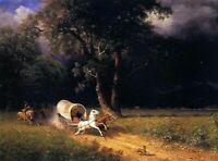 Albert Bierstadt The Ambush Fine Art Reproduction Giclee Print on Canvas Small