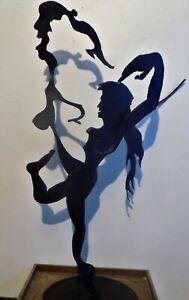 indoor outdoor steel sculpture ,yogadance
