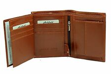 Mens RFID BLOCKING Real Leather Wallet Credit Card Holder, Change Purse 503 TAN