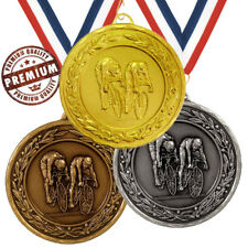 CYCLING MEDAL 50mm EMBOSSED TOP QUALITY, WITH FREE RIBBON, 3 COLOURS