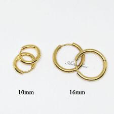 10/16mm (2 Pairs) Mens Womens Stainless Steel Tube Hoop Ear Ring Stud Earring