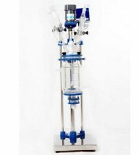 New Digital display Chemical Lab Jacketed Glass Reactor Vessel 2L