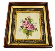 ANTIQUE VICTORIAN THREE-TIER DEEP SHADOW BOX FRAME WITH ORIG. PAINTING