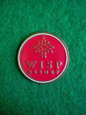 "Wisp Resort Ski & Golf Ball Marker 1"" Metal Flat Coin Ahead - McHenry, Maryland"