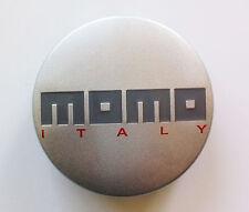 1 x MOMO CENTRO RUOTA TAPPO cap-183 MOMO ITALY lucido grigio argento cap183