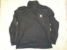 Mens Black 1/4 Zip Long Sleeve Performance Shirt-Size Xl-Izod Golf