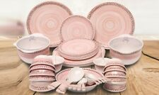Melamine (100%) 46 Pcs Round Dinner Set by Dinewell, Collection - Blush Pearl