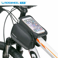 1pcs Waterproof Bicycle Bag Cycling Top Tube Front Frame Phone Holder Case Black