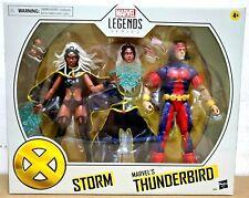 """IN HAND HASBRO MARVEL LEGENDS 6"""" X-MEN STORM & THUNDERBIRD 2 PACK ACTION FIGURES"""