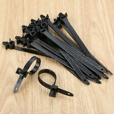30Pcs 152mm Car Bundled Mount Wire Band Tie Wrap Zip Clip Band Fastener Clips