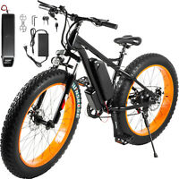 "Electric ScooterElectric Bike 26"" 7 Speed Fat Tire Scooters for Adults"