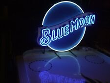*New Authentic Blue Moon Neon Beer Light Sign &  Budweiser Pabst Coor Coasters*