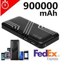 2USB Portable 900000mAh Power Bank Fast Charging External Backup Battery Charger