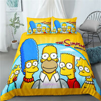 Duvet/Doona/Quilt Cover Single/Double/Queen/King Size Bed The Simpsons Yellow
