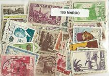 Lot  de 100 timbres du Maroc