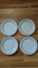 """Kiss That Frog Bistro de Paris Porcelain Dinner Plates Set of 4 Original box 9"""""""
