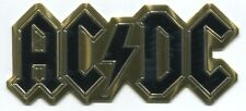 AC/DC gold metal logo STICKER **FREE SHIPPING** -c s7619m back in black