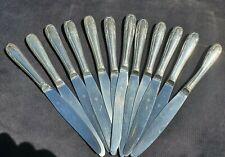 Lot De 12 Couteaux Christofle En Metal Argente Dans Son Écrin