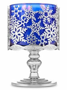 NEW Bath & Body Works Candle Holder Sleeve Christmas Tree Snowflake Pedestal NWT