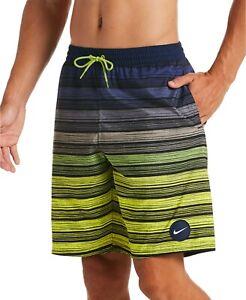 "Nike Men's Stripe Breaker Water-Repellent Ombré 9"" Swim Trunks M"