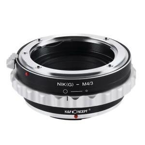 K&F Concept Objektiv Adapter für Nikon G AF-S F Objektiv-M4/3 MFT LUMIX DMC-GH1