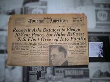 New York  Journal American April 16th 1939 Headline