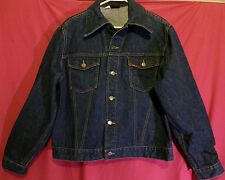 1960's Men's Vtg. Sears Roebucks Classic Denim Blue Jean Jacket Coat Sz 46R XL