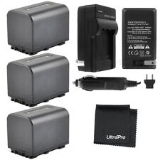3x NP-FV70 Battery + Charger for Sony HDR-XR150 XR160 VR260V XR350 XR550V