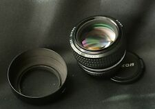 Nikon Nikkor 50mm f/1.2 Ais + lenshood super fast lens. EXC+ cond. sharp optic