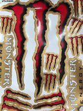Red Gold Black  Monster Energy Stickers Logo For RC ATV BIKE Skateboard Laptop