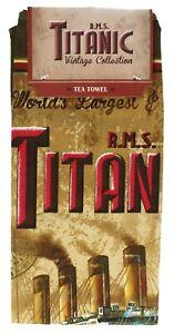 Titanic Collectors Vintage Tea Towel (sg)