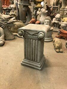 Plinth Pedestal Roman column Solid heavy concrete garden ornament Scroll Column