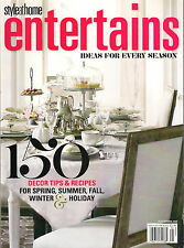 Style at Home ENTERTAINS Ideas for Every Season 150 Decor & Food Recipes $13 NM