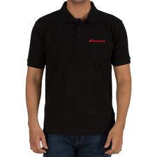 Genuine Honda Biker Motocycle Racing Freestyle Motocross Black Men Polo T-Shirt