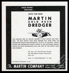 1961 Martin Gold Rush Dredger photo vintage print ad