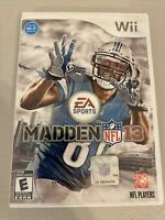 Complete Madden NFL 13 (Nintendo Wii, 2012) with Manual Tested