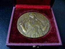 "Art Deco ""LE MATIN"" Bronze Medal by FRAISSE / 50 mm / with original BOX / M48"