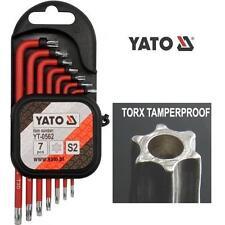 YATO TORX SICUREZZA ANTIMANOMISSIONE bit t9-t30 ALLEN KEY set 7 pc S2 ACCIAIO (yt-0562)