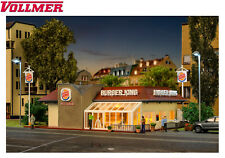 Vollmer H0 43632 Burger King Restaurant mit LED-Beleuchtung - NEU + OVP