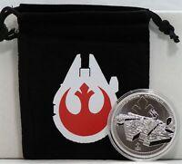 2021 Millennium Falcon Star Wars 1 oz 999 Fine Silver $2 Niue Coin w/ Bag JJ955