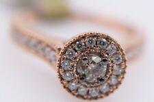Ladies 14k Rose Gold Engagement Ring Chocolate Diamond .20ct
