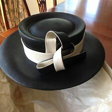 Gorgeous Graham Smith black and cream occasion hat - weddings, Ascot