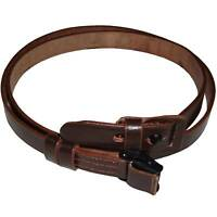 German Mauser K98 WWII Rifle Leather Sling MARKED GWX 1943 Dy215