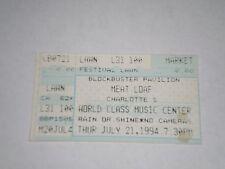 Meatloaf Concert Ticket Stub-1994-Blockbuster Pavilion-Charlotte,NC