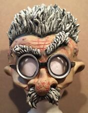 2002 Disguise Adult Halloween Mask Crazy Villain Goggles Brain Exposed -Great!!