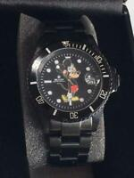 Disney Mickey Mouse  BEAMS Over the Stripe Seiko collaboration wrist watch black