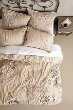 �� SUPER CUTE �� Anthropologie GEORGINA Twin Duvet Cover sand beige cotton